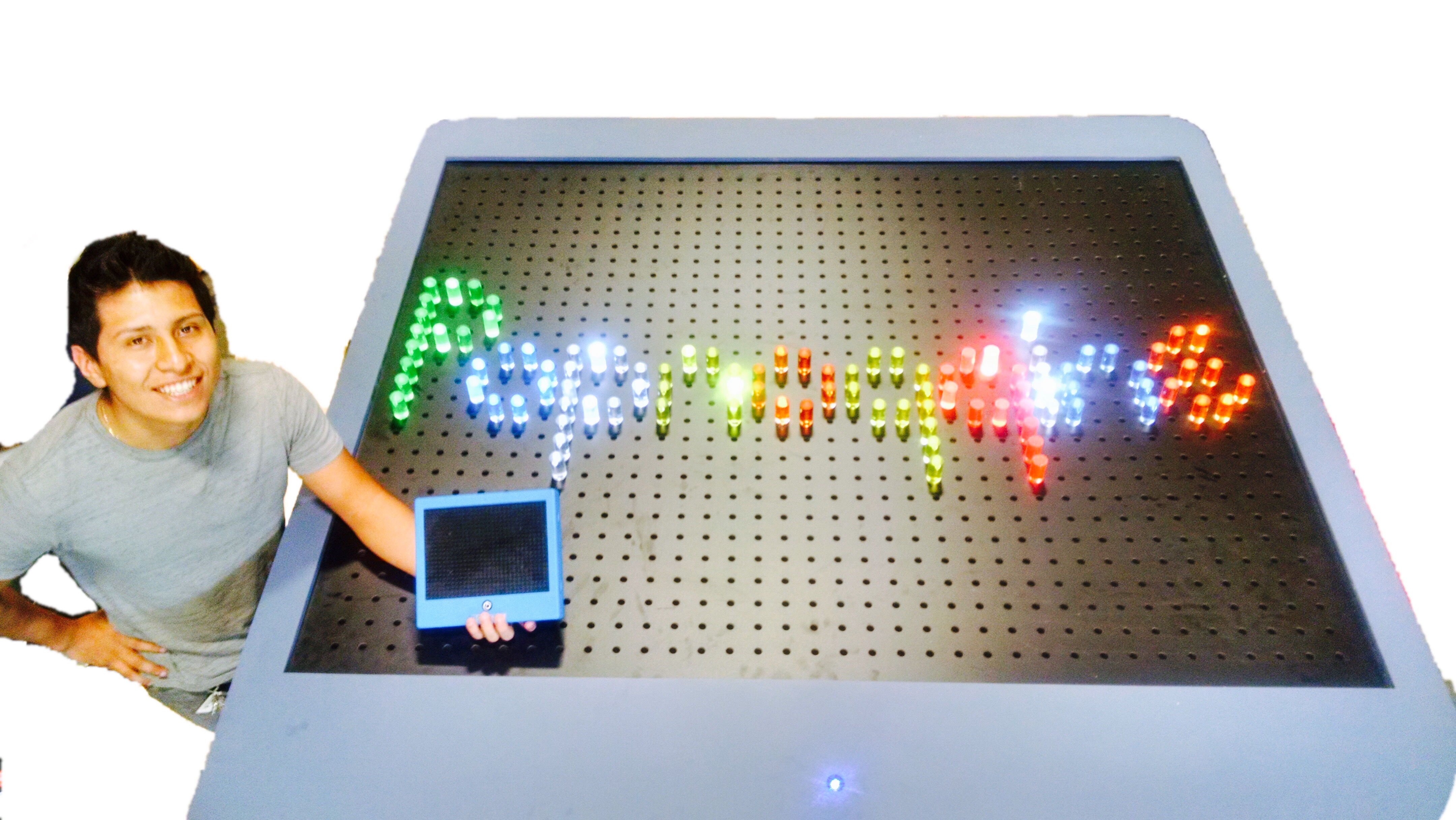 Giant Lite Bright, Life Size Lite Bright with pegs available for rental in Las Vegas, Orlando, Miami, and Nationwide