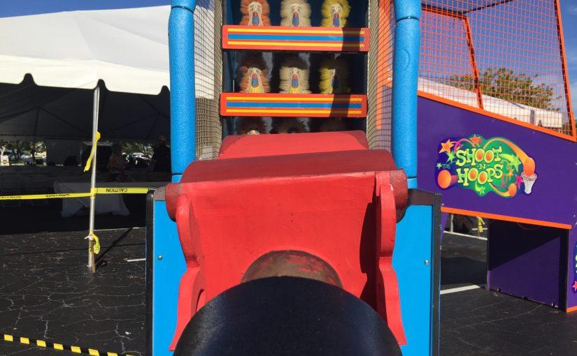 Down the clown, cannon blaster, carnival game rentals orlando