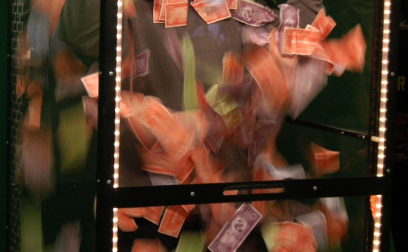 Traveler Money Machine, Step into our Money Machine Rental and experience timed bliss. Have money swirl all around you as you reach and grab to keep it.