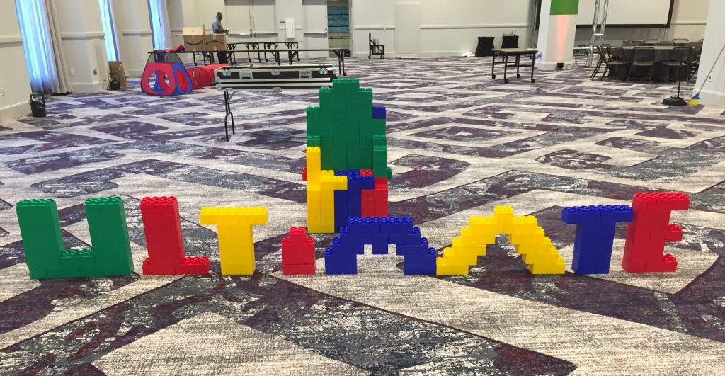 Giant Legos, Ultimate Software Photo Op, Giant Legos