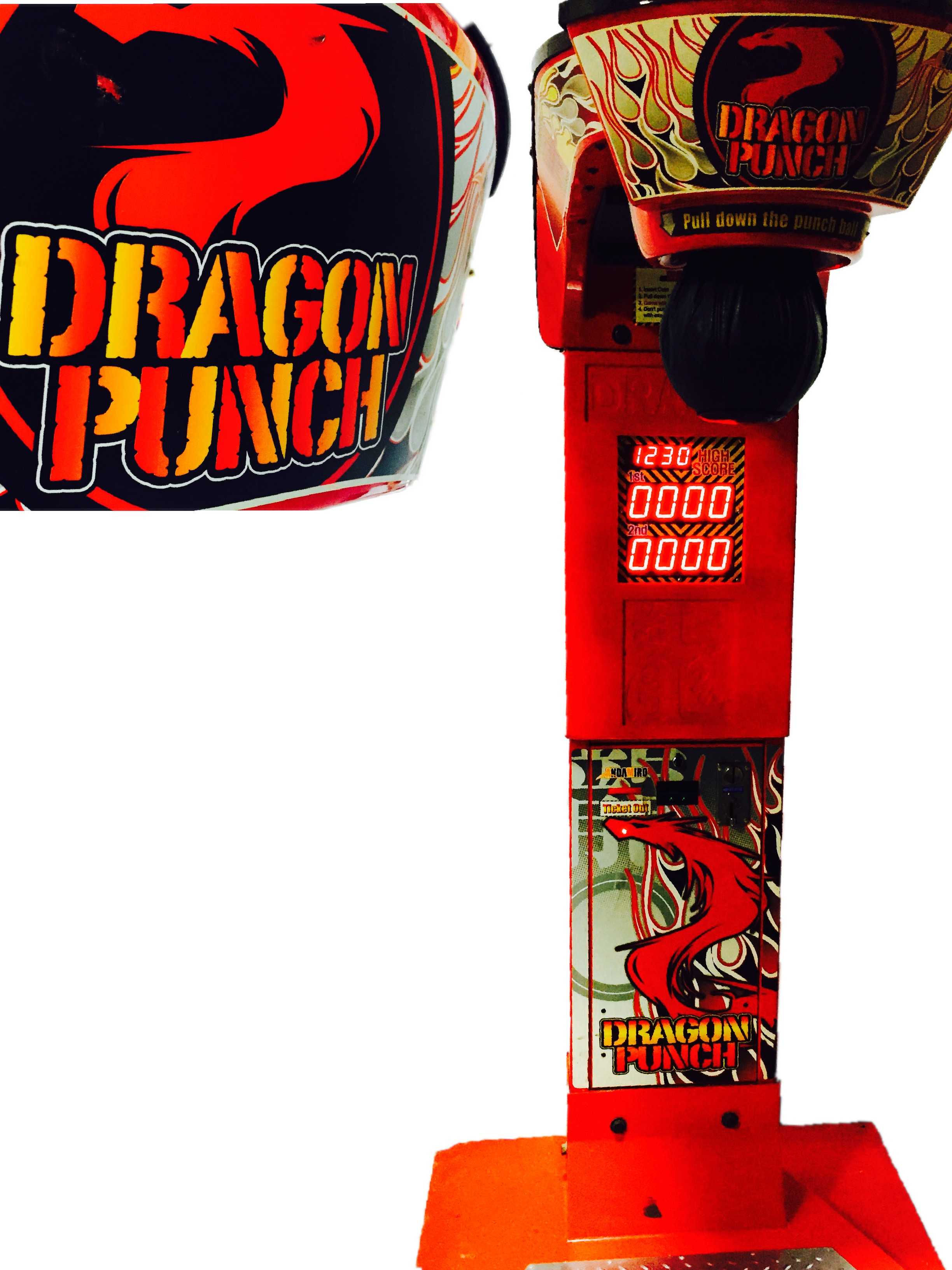 This is our arcade game rental dragon punch available for your corporate reception or party