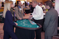 Bring this cost effective entertainment to your next corporate reception. Our black jack tables are available for corporate events and private social gatherings.