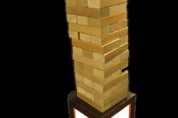 LED JENGA BOX, LED Shadow Box, Giant Jenga with LED lights