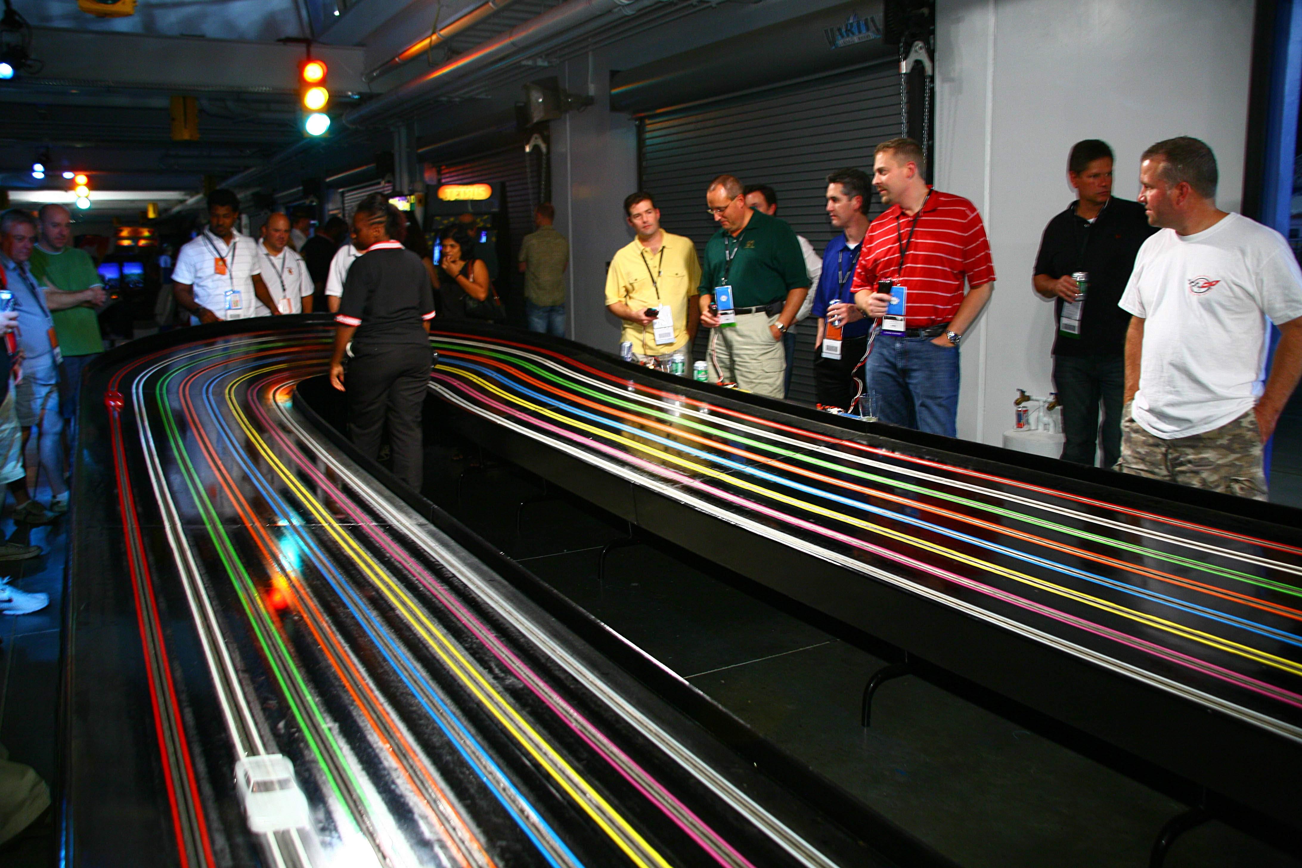 Slot car tracks in las vegas blackjack floating floor cushion underlayment