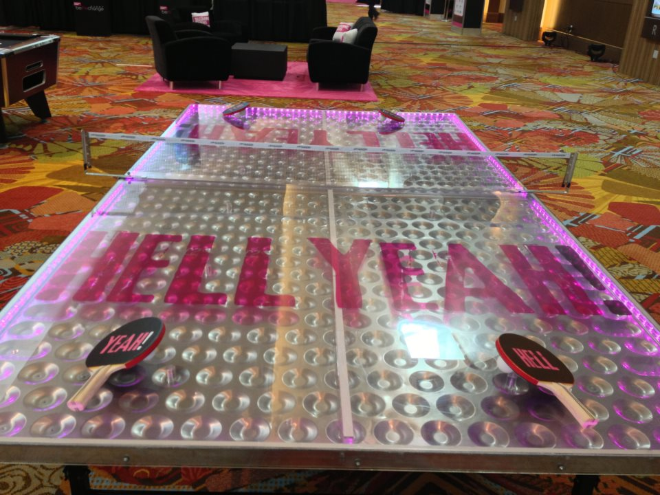 LED Ping Pong Table Custom Branding