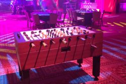 Professional Foosball Table Rental for parties, trade shows, or corporate events.