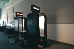 Photo Booth Rental For Corporate Event, Private Parties, Or Trade Show. This is a classic strip photo booth available for rental.