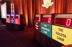 Game Show Rental large stage with full size podiums