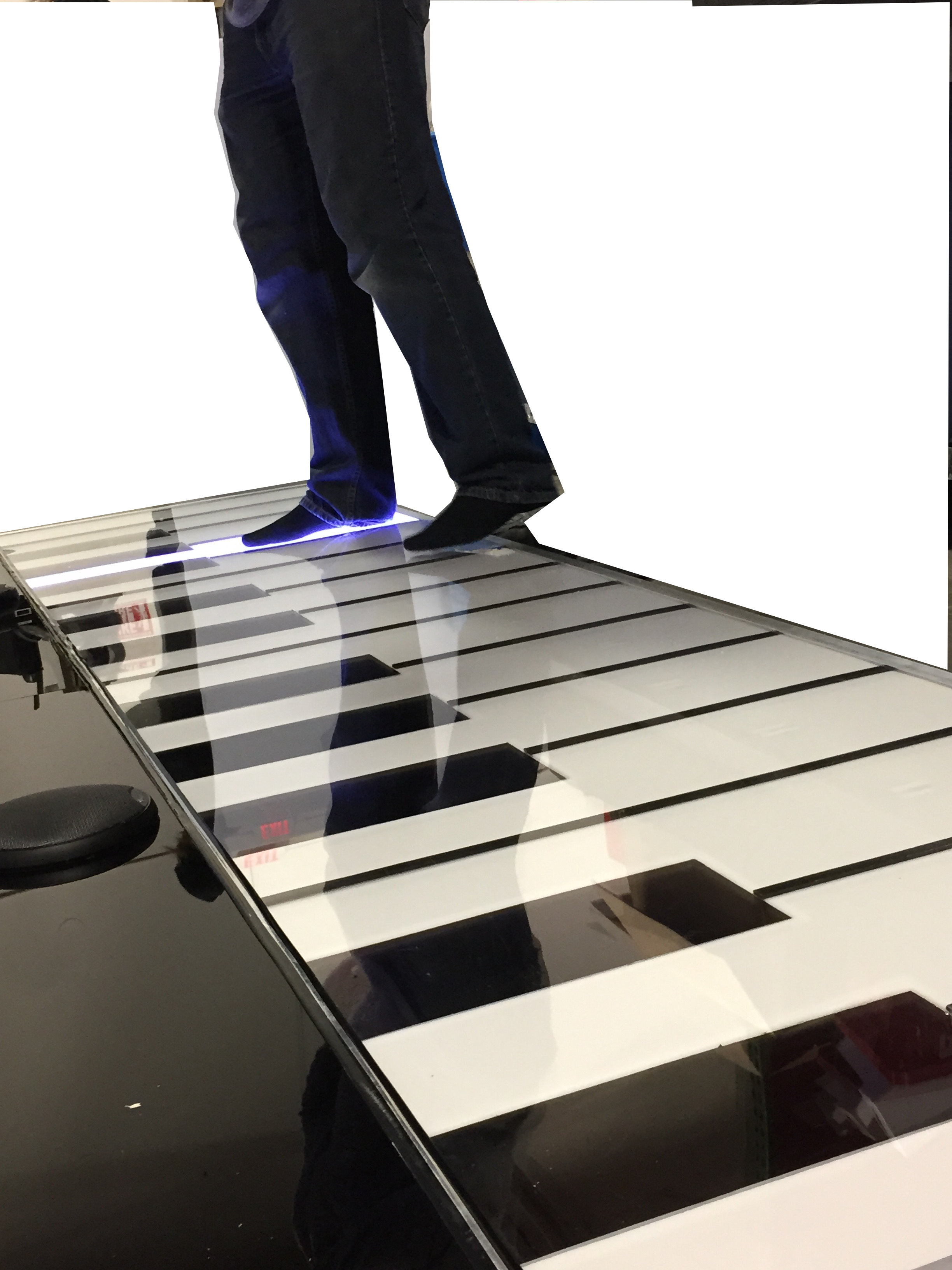 Fully Lit Giant Piano
