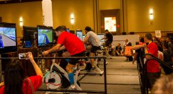 Team Building, Virtual Reality Spin Bikes, VR Cycling