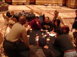 Team Building activities, group huddle, survivor.