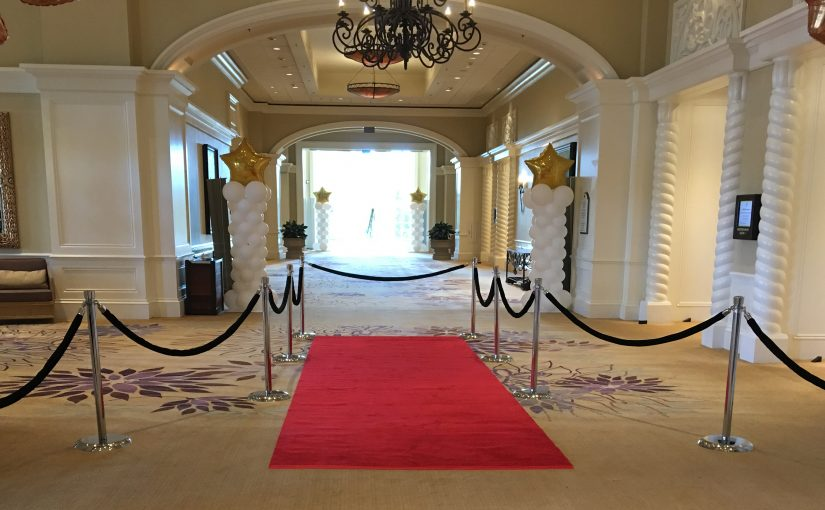 Red Carpet rental with rope and stanchion