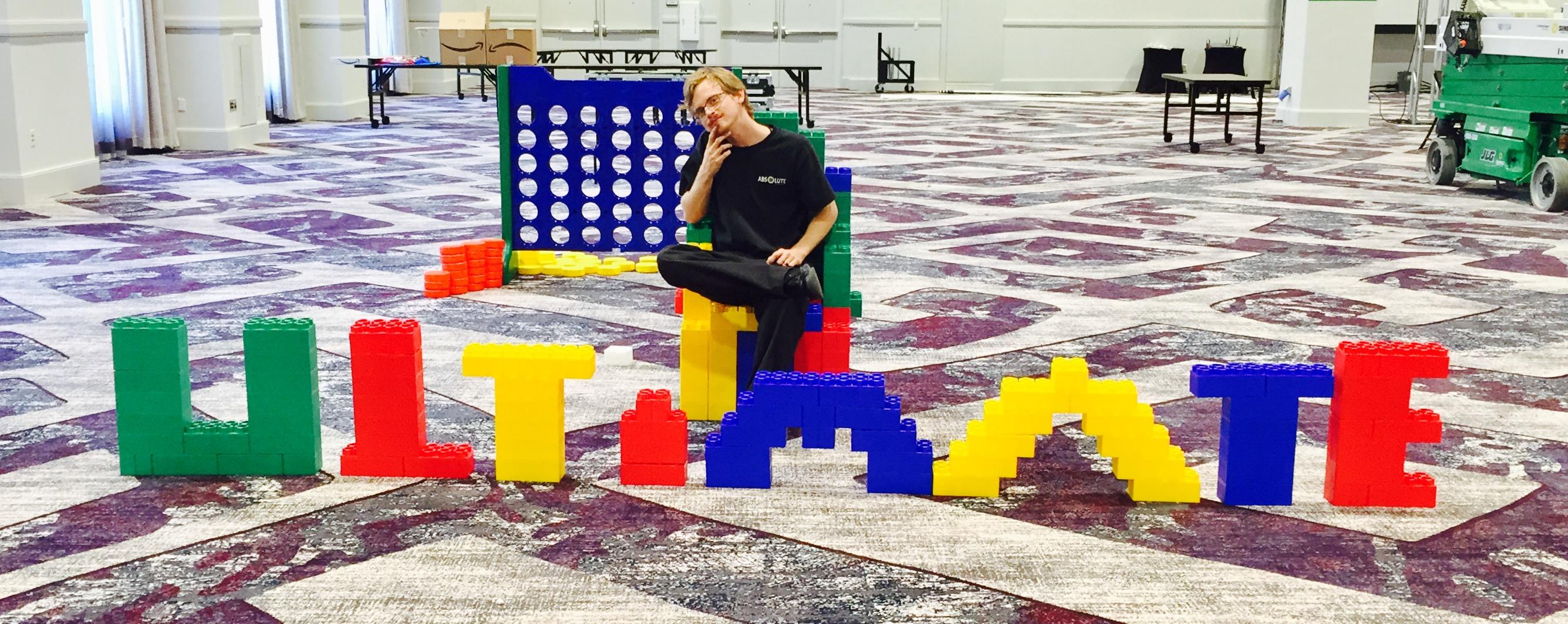 Giant Lego Photo Op, Giant Life Size Lego, Giant Building Blocks, Giant Game Rentals