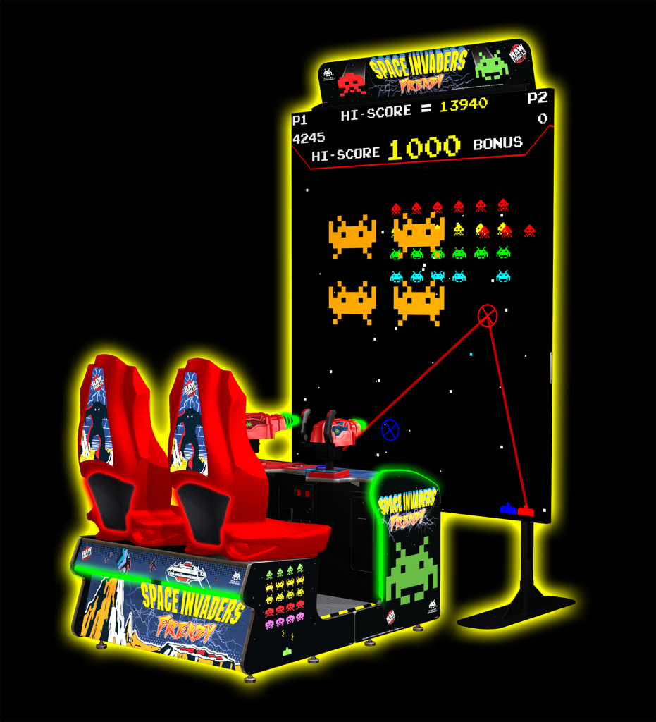 Admin Author At Absolute Amusements Picture Of Quiz Show Buzzer System Using Staples Easy Button The Giant Space Invaders Frenzy Is Perfect Arcade Rental For Your Next Corporate Event Or Trade Game An Upgraded Version Classic